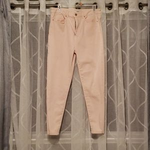 Forever 21 peach high wasted skinny jeans